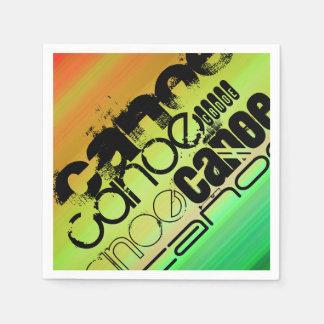 カヌー; 鮮やかな緑、オレンジ、及び黄色 スタンダードカクテルナプキン