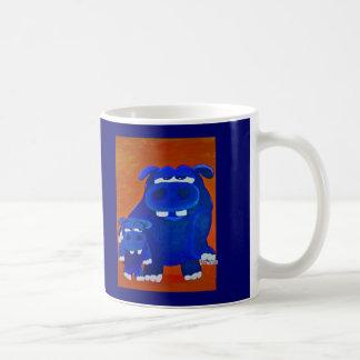カバおよび息子 コーヒーマグカップ