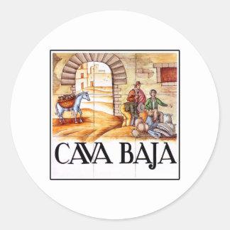 カバのBaja、マドリードの道路標識 ラウンドシール