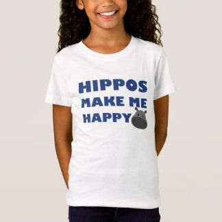 カバは私を幸せにさせます Tシャツ