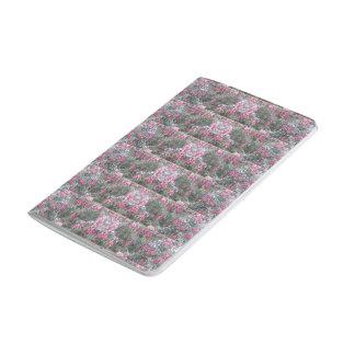 カバーの及びの暗い赤紫色のフリーズ2が付いている小型ジャーナル ポケットジャーナル