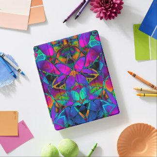 カバーiPad 2/3/4の花のフラクタルの芸術 iPadスマートカバー