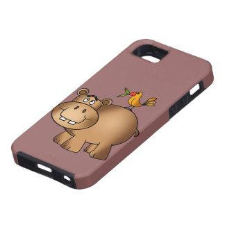カバpoおよび小鳥 iPhone SE/5/5s ケース