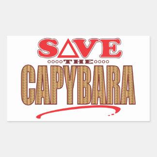 カピバラの保存 長方形シール