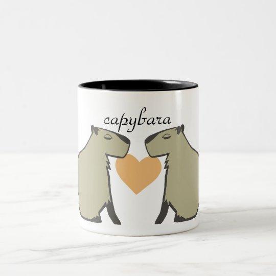 カピバラマグカップ ツートーンマグカップ