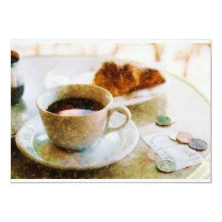 カフェのコーヒーそしてクロワッサン カード