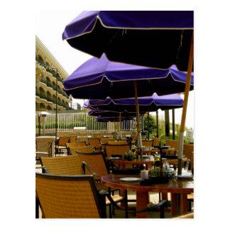 カフェのビーチの歩行Destinフロリダ ポストカード
