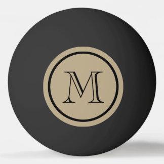 カフェのラテの無地の黒のカスタムのモノグラム 卓球ボール