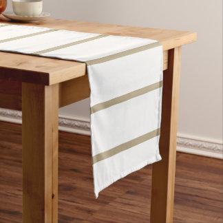 カフェのラテの細い縦縞 ショートテーブルランナー