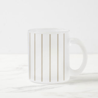 カフェのラテの細い縦縞 フロストグラスマグカップ