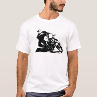 カフェのレーサーのオートバイ Tシャツ