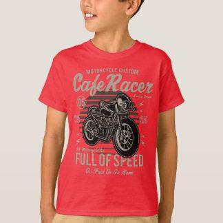 カフェのレーサーの子供のTAGLESS®のTシャツ Tシャツ