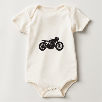 カフェのレーサー/がきのオートバイのヴィンテージのカッコいいのステンシル ベビーボディスーツ