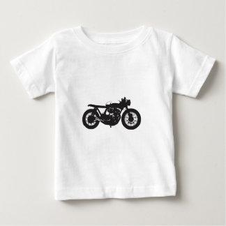 カフェのレーサー/がきのオートバイのヴィンテージのカッコいいのステンシル ベビーTシャツ