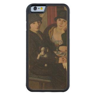 カフェの女性、c.1924 CarvedメープルiPhone 6バンパーケース