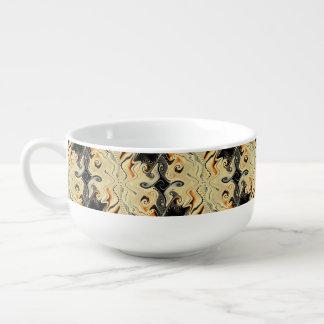 カフェの詐欺LecheはLaスープマグをねじります スープマグ