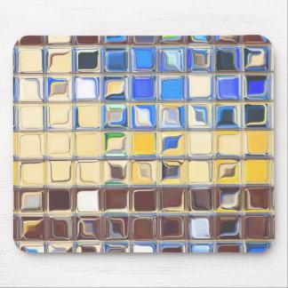 カフェの青い~ガラスのタイル マウスパッド