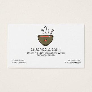 カフェまたはレストランのスープボウルの名刺 名刺