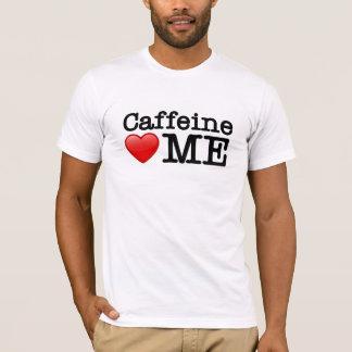 カフェインのハート私 Tシャツ