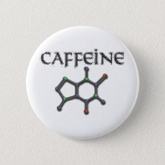 カフェインの分子のコーヒー化学方式 缶バッジ