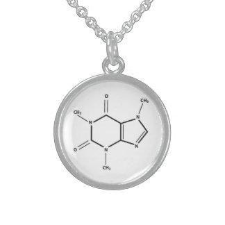 カフェインの分子の純銀のネックレス スターリングシルバーネックレス