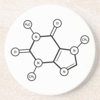 カフェインの分子構造 コースター