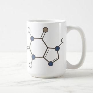 カフェインの分子 コーヒーマグカップ