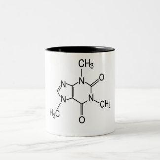 カフェインの分子 ツートーンマグカップ
