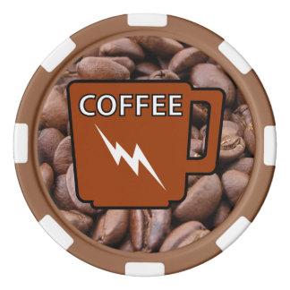 カフェインの動揺 ポーカーチップ