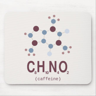カフェインの化学式 マウスパッド
