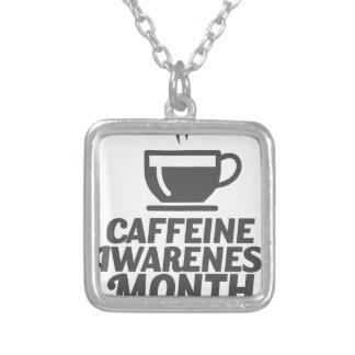 カフェインの認識度月3月-感謝日 シルバープレートネックレス