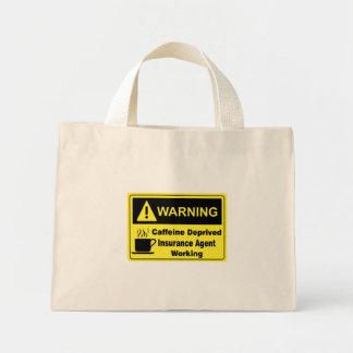 カフェインの警告の保険代理店 ミニトートバッグ