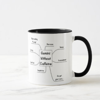カフェインの(占星術の)十二宮図のジェミニ マグカップ