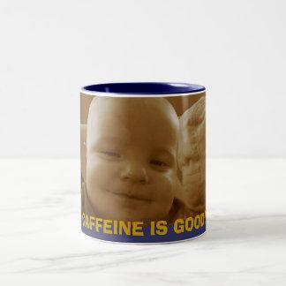 カフェインはよいです! ツートーンマグカップ
