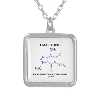 カフェインは悪化させます私の不眠症(化学)を シルバープレートネックレス