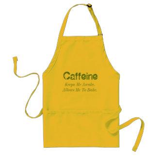 カフェインは私を目がさめている保ちます。 私を焼けることを許可します スタンダードエプロン