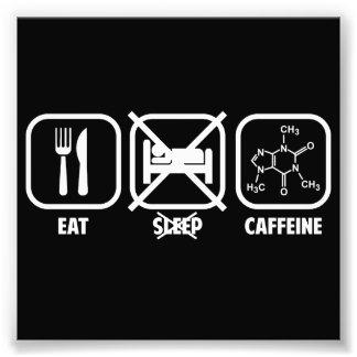 、カフェイン食べて下さい、眠らせないで下さい フォトプリント