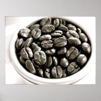 カフェシリーズ-フィルターポスターの豆 ポスター