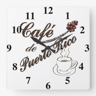 カフェdeプエルトリコの柱時計 スクエア壁時計