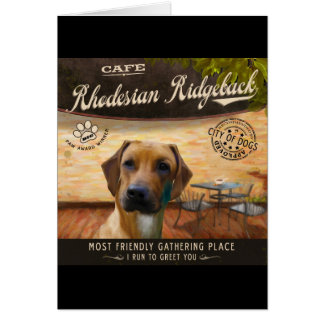 カフェRhodesian Ridgeback カード