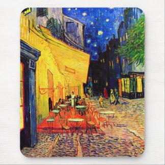 カフェTerrace Place du Forumゴッホのファインアート マウスパッド