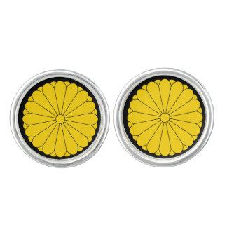 カフスボタン日本エレガントな紋章付き外衣 カフスリンク