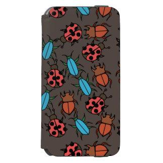 カブトムシおよびてんとう虫パターン虫の恋人 INCIPIO WATSON™ iPhone 6 ウォレットケース