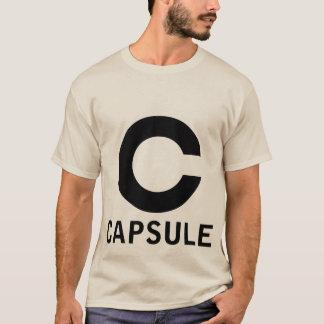 カプセルのロゴのティー(黒いグラフィック) Tシャツ