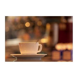 カプチーノのコーヒー、ベニス、イタリア アクリルウォールアート