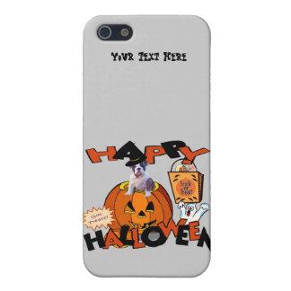 カボチャからかいま見ているちょうど余りにかわいいブルドッグの子犬 iPhone SE/5/5sケース