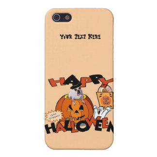 カボチャからかいま見ているちょうど余りにかわいいブルドッグ iPhone 5 ケース