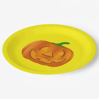カボチャが付いている紙皿 ペーパープレート