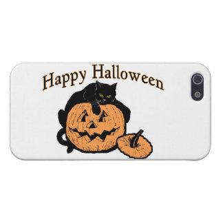 カボチャのハッピーハローウィンの黒猫 iPhone 5 ケース