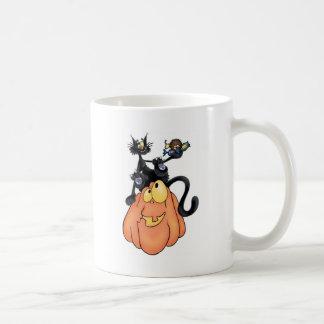 カボチャの猫 コーヒーマグカップ